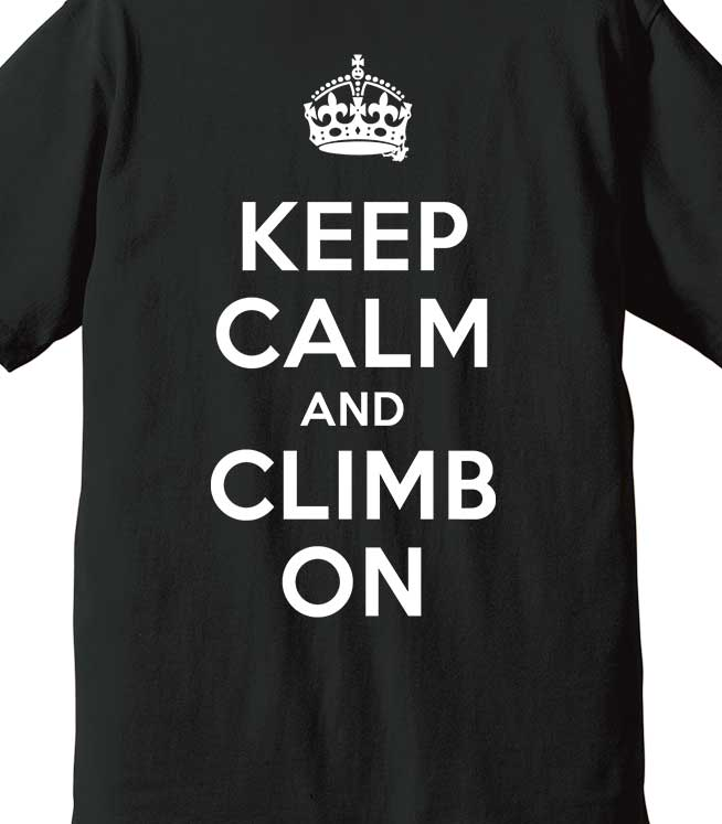 keep calm and climb on black egofrank