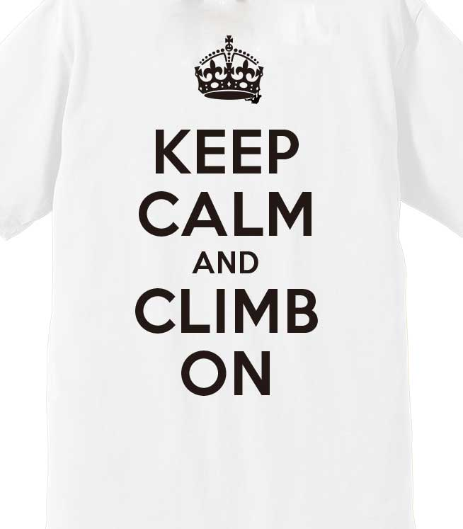 keep calm and climb on white egofrank